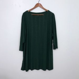 J. Jill Wearever Collection Forest Green Tunic
